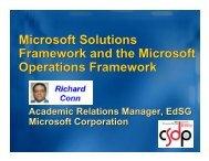 Microsoft Solutions Framework and the Microsoft ... - SIGAda