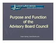 Purpose and Function of Advisory Boards - CareerSmarts