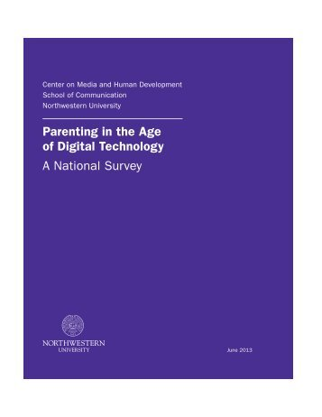 Parenting in the Age of Digital Technology A National Survey