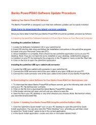 Banks PowerPDA® Software Update Procedure