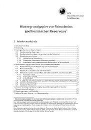 Hintergrundpapier zur Stimulation geothermischer Reservoire des GtV