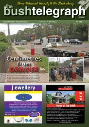 21st March 2013 - The Bush Telegraph Weekly