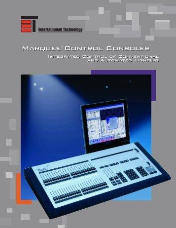 Marquee Control Consoles Marquee Control Consoles