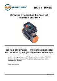 Skrzynka wyłączników krańcowych typu NSK oraz ... - Ebro Armaturen