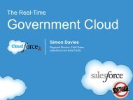 The Real-Time Government Cloud - Salesforce.com