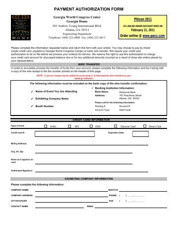 GWCC Utilities Ordering Forms - Pittcon Web Archives