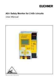 AS-i 3.0 Safety Monitor for 2 AS-i circuits - EUCHNER GmbH + Co. KG