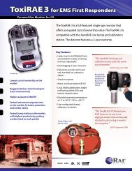 ToxiRAE 3 for EMS First Responders - RAE Systems