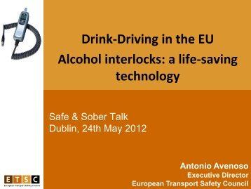 Alcohol interlocks - Road Safety Authority