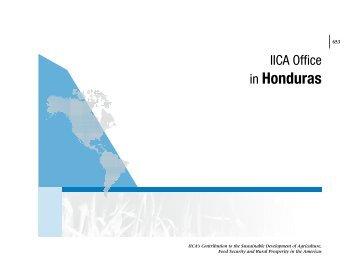 in Honduras - Instituto Interamericano de Cooperación para la ...