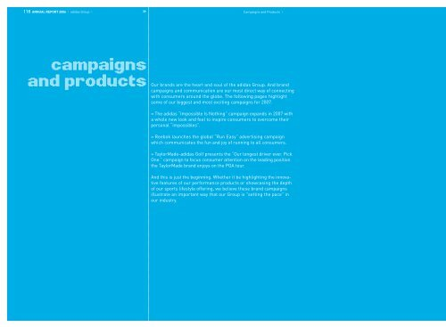 campaigns and products - adidas Group