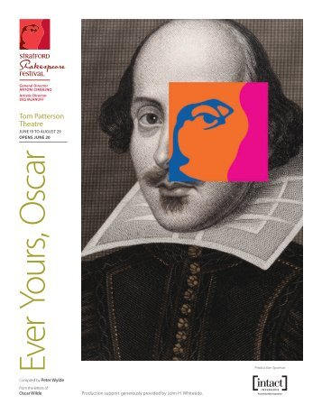Oscar Cover.indd - Stratford Festival