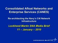 Consolidated Afloat Networks and Enterprise ... - Lockheed Martin
