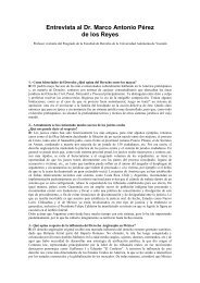 ENTREVISTA AL DR Marco A. Pérez - Facultad de Derecho ...