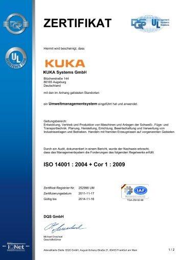 Zertifikat - Kuhnke