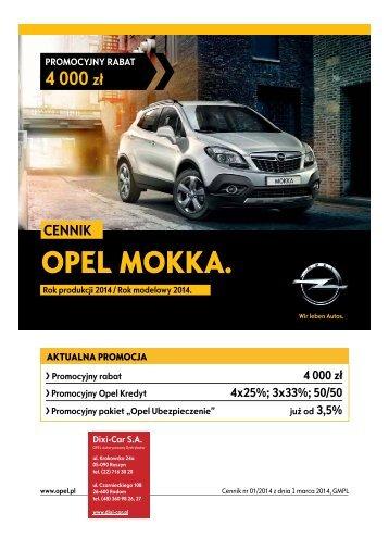 CENNIK - Mokka - Opel Dixi-Car