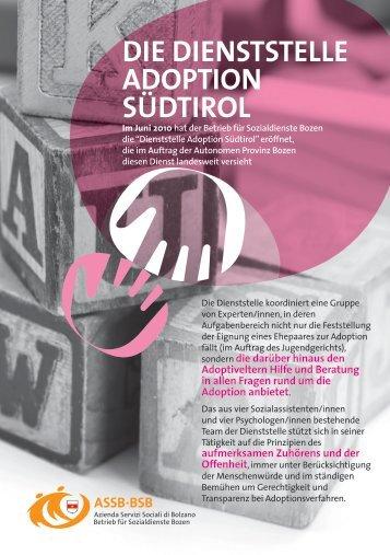 Dienststelle Adoption Südtirol - Betrieb für Sozialdienste Bozen