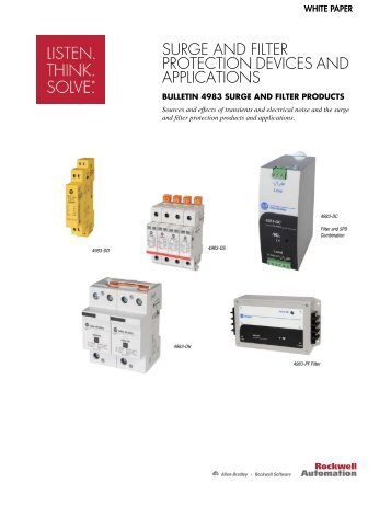 Surge and Filter Protection Devices and Application Whitepaper