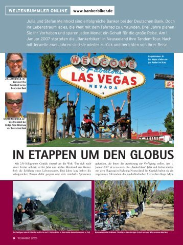 IN ETAPPEN UM DEN GLOBUS - Vom Banker zum Biker