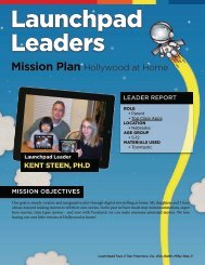 Mission Plan Hollywood at Home - Launchpad Toys