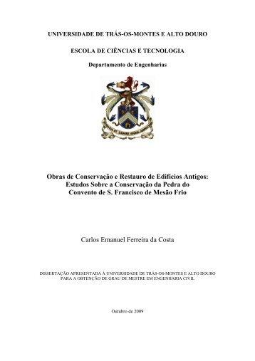 Obras de Conservação e Restauro de Edifícios Antigos: Estudos ...