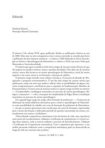 Editorial - Associação de Professores de Matemática