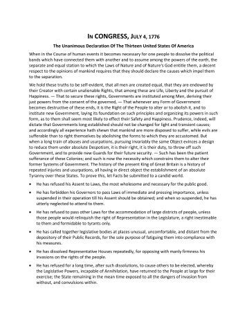 american declaration of independence pdf