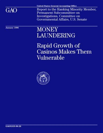 GGD-96-28 Money Laundering - Justia GAO Reports