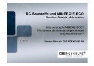 RC-Baustoffe und MINERGIE-ECO - KSE Bern