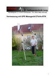 Vermessung mit GPS Messgerät ETieVe-RTK