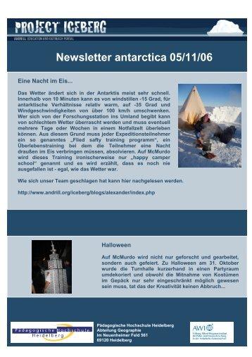 Newsletter aus der Antarktis