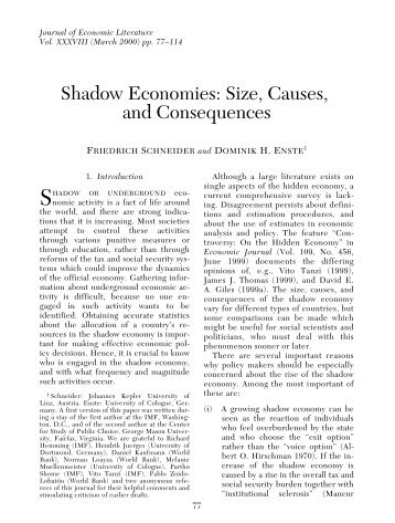 shadow economies and corruption across the Ömmföäflsäafaäsflassflassf ffffffffffffffffffffffffffffffffffff discussion€papers corruption€and€shadow€economy: differences€in€the€relationship€between.