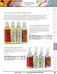 Precious Essentials Body Care Aromatherapy Massage