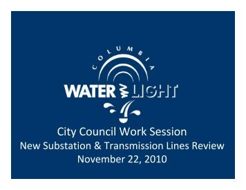 City Council Work Session - City of Columbia, Missouri