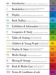 3 I Bookshelves 11 22 40 IV Exhibition & Information 50 VI ... - Bogart