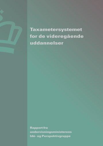 Taxametersystemet for de videregående uddannelser