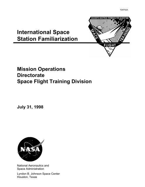 International Space Station Familiarization and     - ER - NASA
