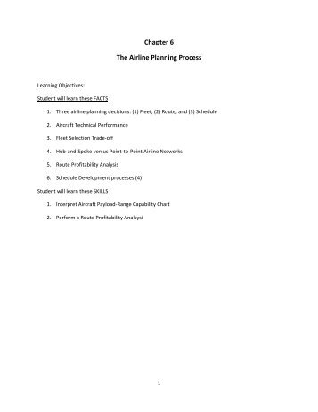 Chap 6 Learning Objectives and Workbook