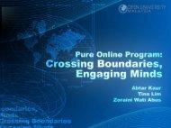 Pure Online Program: Crossing Boundaries, Engaging Minds