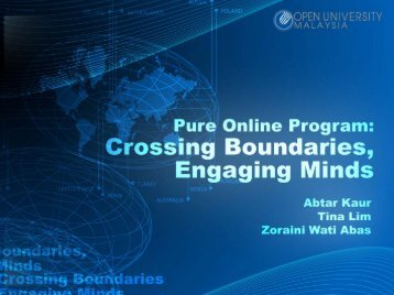 Pure Online Program: Crossing Boundaries, Engaging Minds