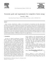 Economic goals and requirements for competitive fusion ... - CiteSeerX