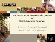 Enrollment Under the Medicaid Expansion and ... - SAMHSA Store