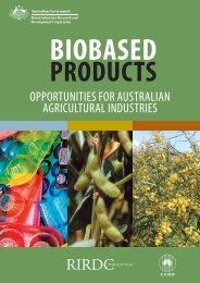 OPPORTUNITIES FOR AUSTRALIAN AGRICULTURAL INDUSTRIES