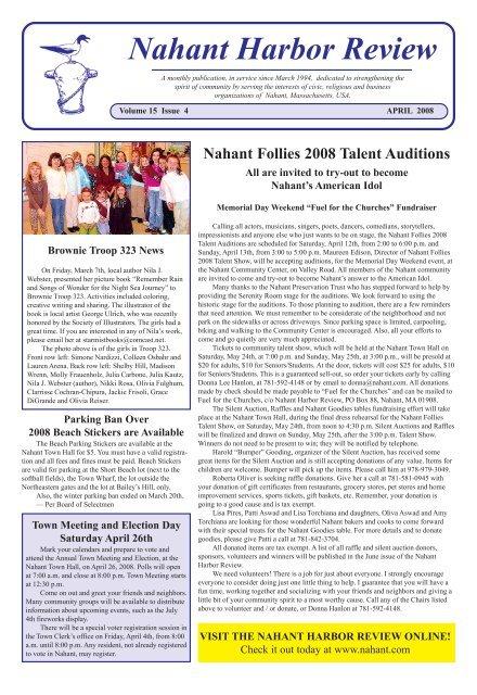2008 April Pmd Nahant Massachusetts Usa