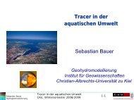 Tracer in der aquatischen Umwelt Sebastian Bauer - Institut für ...