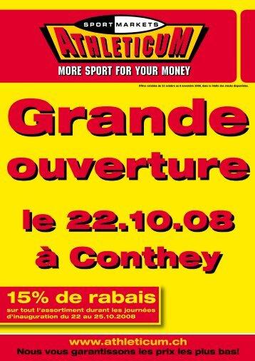 le 22.10.08 à Conthey -  Athleticum
