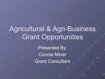Agricultural & Agri-Business Grant Opportunities - Shepstone ...