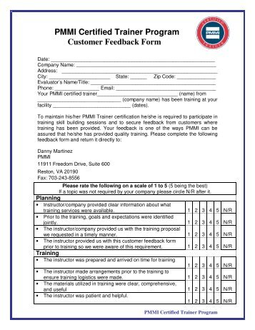 Kws Customer Feedback Form