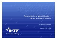 Augmented and Mixed Reality – Virtual and Mirror Worlds