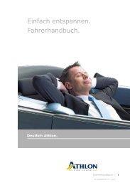 Einfach entspannen. Fahrerhandbuch. - Athlon Car Lease